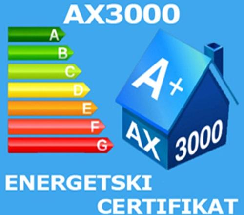 AX3000 energetski certifikat