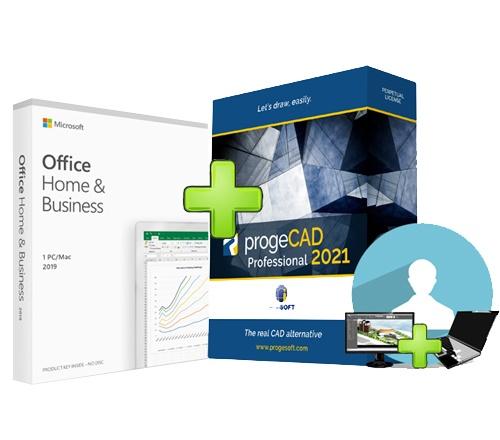 progeCAD + Microsoft Office 2019