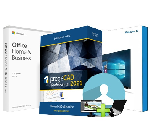 PAKET progeCAD 2D/3D + Windows 10 + Office 2019