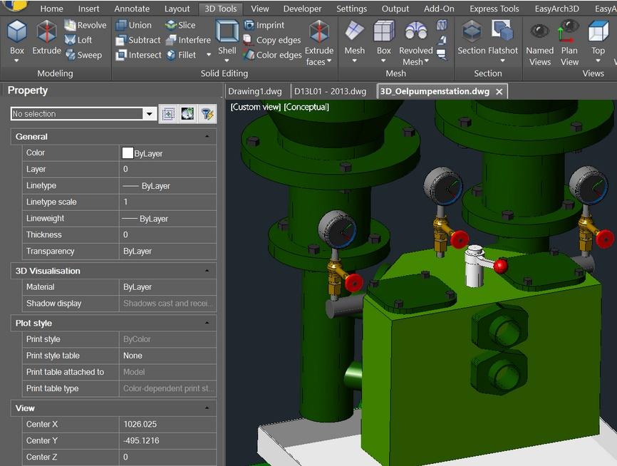progeCAD 3D prikaz