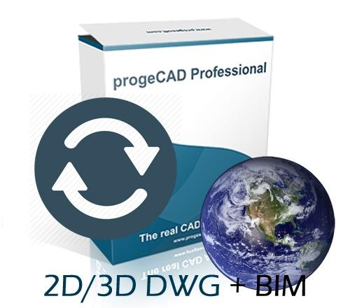 progeCAD 2021 2D/3D Professional državna licenca - nadogradnja sa starije verzije