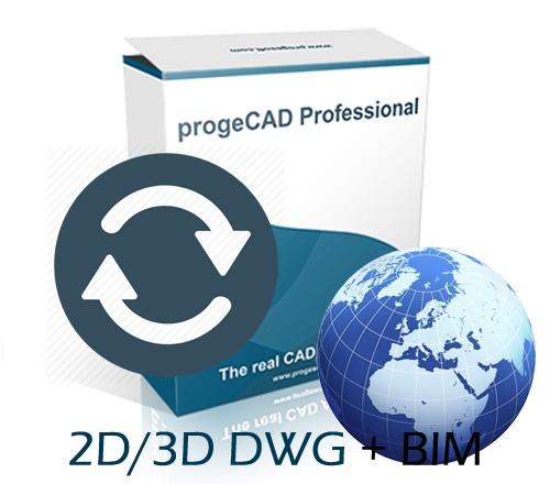 progeCAD 2021 2D/3D Professional lokacijska licenca - nadogradnja sa starije verzije