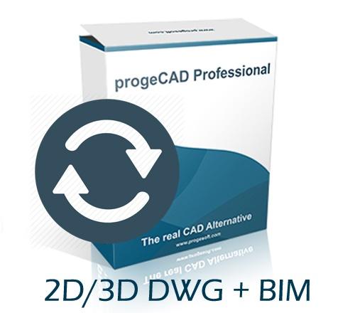 progeCAD 2020 2D/3D Professional SL - s bilo kojeg CAD programa