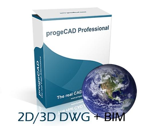 progeCAD 2020 2D/3D Professional - državna licenca