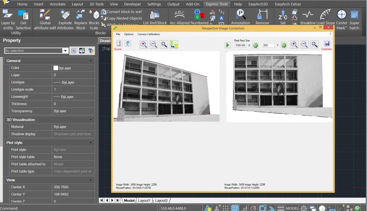 progeCAD korekcija slike
