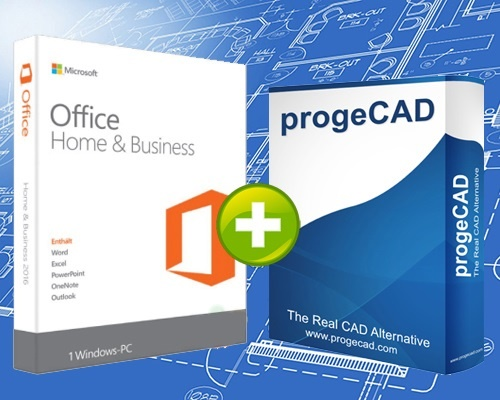 PAKET progeCAD 2D/3D + Microsoft Office 2019