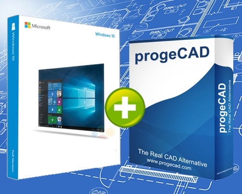 progeCAD 2D/3D Professional 2017 + Microsoft Windows 10