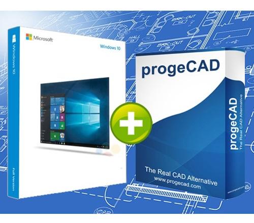 progeCAD 2D/3D Professional SL 2018 + Microsoft Windows 10