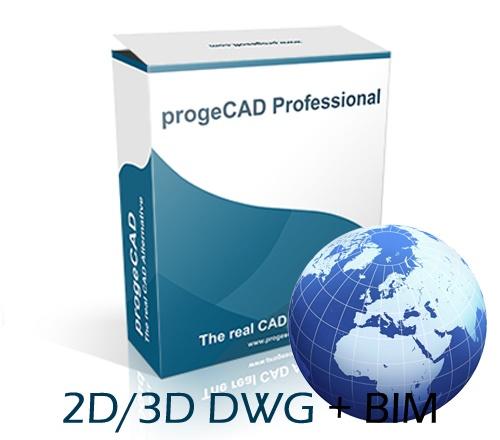 progeCAD 2020 2D/3D Professional - lokacijska licenca